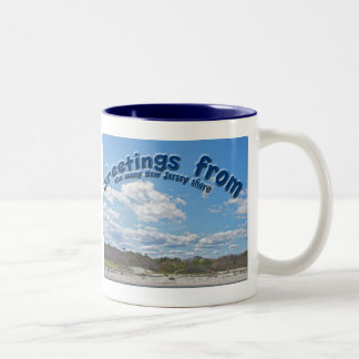 Greetings From Sunny New Jersey Shore Mug