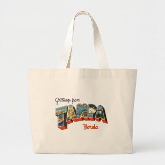 Greetings from Tampa, Florida Large Tote Bag
