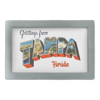 Greetings from Tampa, Florida Rectangular Belt Buckle