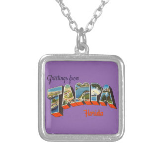 Greetings from Tampa, Florida Silver Plated Necklace