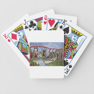 Greetings From Tennessee Bicycle Playing Cards