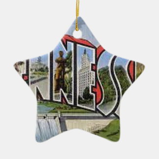 Greetings From Tennessee Ceramic Ornament