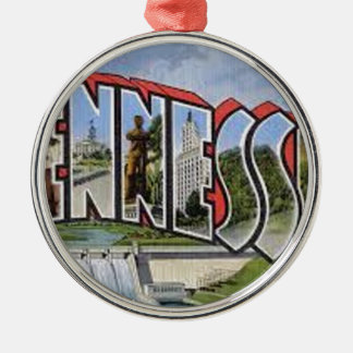 Greetings From Tennessee Metal Ornament