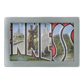 Greetings From Tennessee Rectangular Belt Buckles