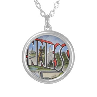 Greetings From Tennessee Silver Plated Necklace