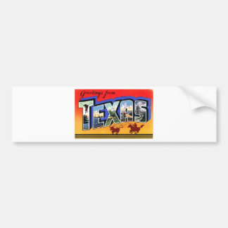 Greetings From Texas Bumper Sticker