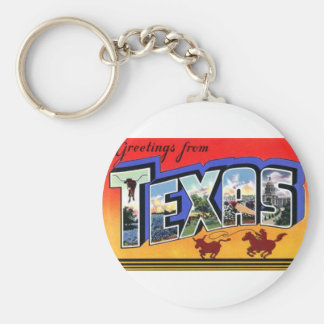 Greetings From Texas Keychain