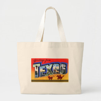 Greetings From Texas Large Tote Bag