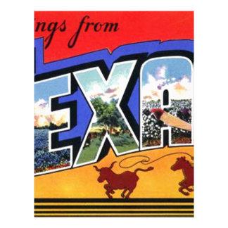 Greetings From Texas Letterhead