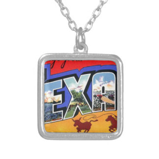 Greetings From Texas Silver Plated Necklace