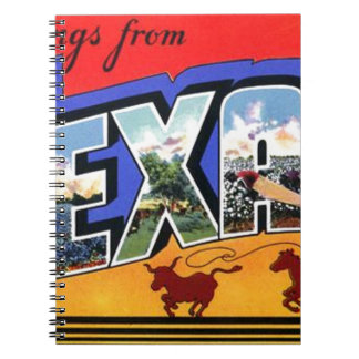 Greetings From Texas Spiral Notebook