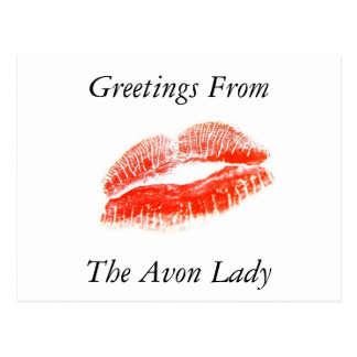 Greetings From The Avon Lady Post Card