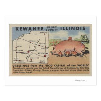 Greetings From the Hog Capital of the World Postcard