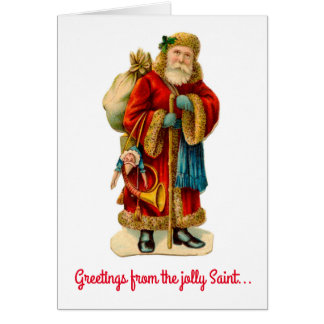 Greetings from the Jolly Saint Nick Christmas Card