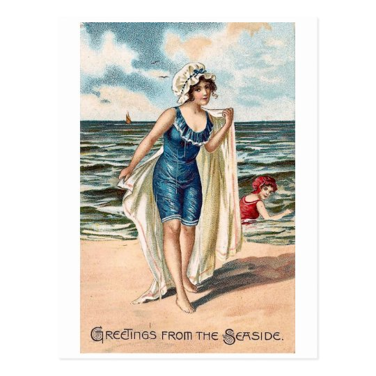 Greetings from the Sea side - vintage postcard #2