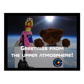 Greetings from the Upper Atmosphere Postcard