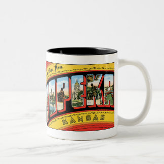 Greetings from Topeka Two-Tone Coffee Mug
