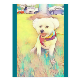 Greetings from Trixie the dog Postcard