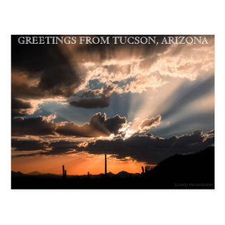GREETINGS FROM TUCSON, ARIZONA POSTCARD