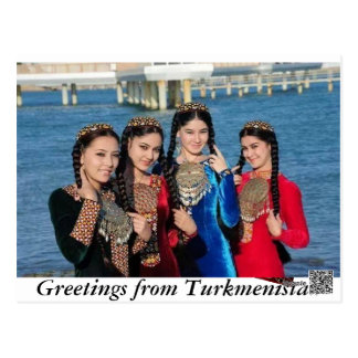 GREETINGS FROM TURKMENISTAN POSTCARD