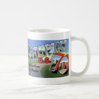 Greetings from US Highway 70 Vintage Postcard Mug