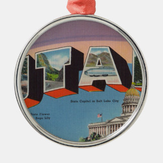 Greetings From Utah Metal Ornament