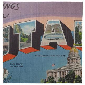 Greetings From Utah Napkin