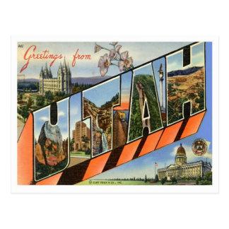 Greetings From Utah Post Cards