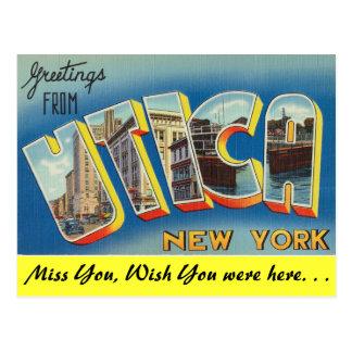 Greetings from Utica Postcard