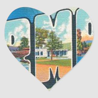 Greetings From Vermont Heart Sticker