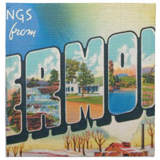 Greetings From Vermont Napkin