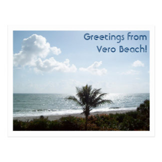 Greetings from Vero Beach! Postcard