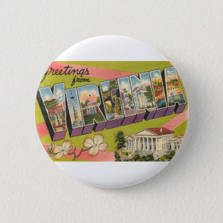 Greetings From Virginia 2 Inch Round Button