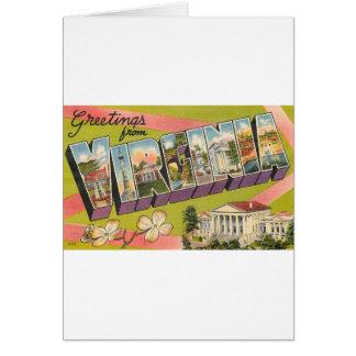 Greetings From Virginia Card