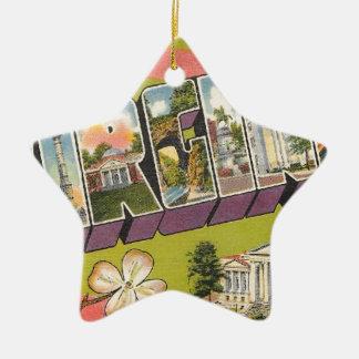 Greetings From Virginia Ceramic Ornament