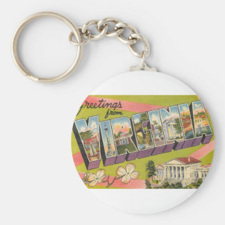Greetings From Virginia Keychain