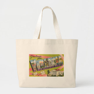 Greetings From Virginia Large Tote Bag
