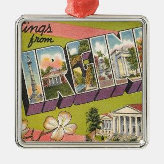 Greetings From Virginia Metal Ornament