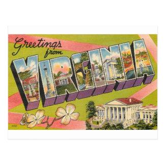 Greetings From Virginia Postcard
