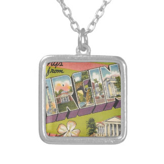Greetings From Virginia Silver Plated Necklace