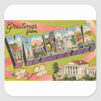 Greetings From Virginia Square Sticker