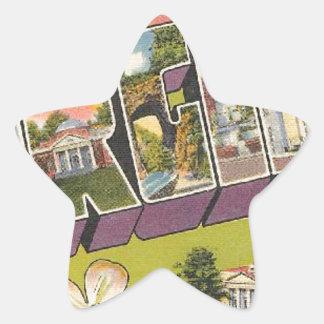 Greetings From Virginia Star Sticker