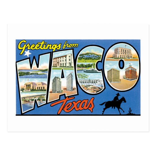 Greetings from Waco, Texas Postcard