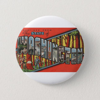 Greetings From Washington 2 Inch Round Button