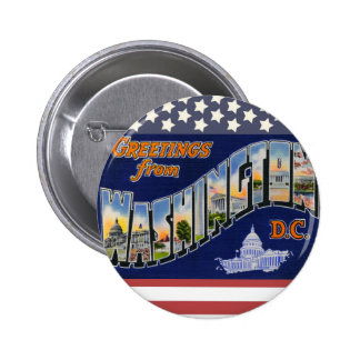 Greetings From Washington DC! 2 Inch Round Button