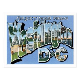 Greetings From Washington DC Vintage Postcard