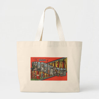 Greetings From Washington Large Tote Bag