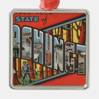 Greetings From Washington Metal Ornament