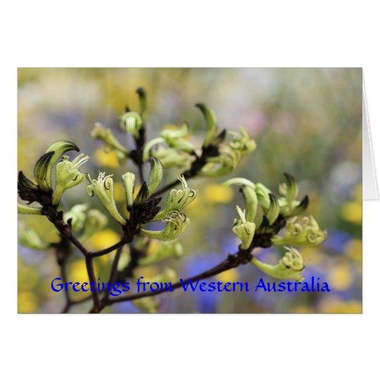 Greetings from Western Australia Card