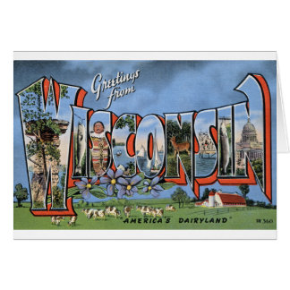 Greetings From Wisconsin Card